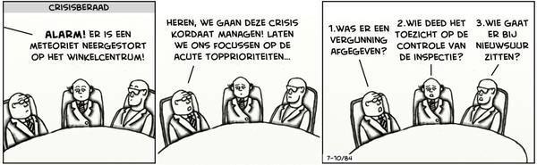 Crisisberaad cartoon
