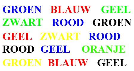 kleurentest NL: betekenis zit waarneming in de weg.