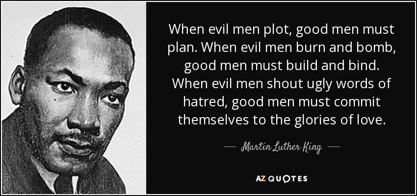 When evil men plot