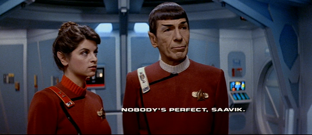 Saavik and Spock Nobody is perfect