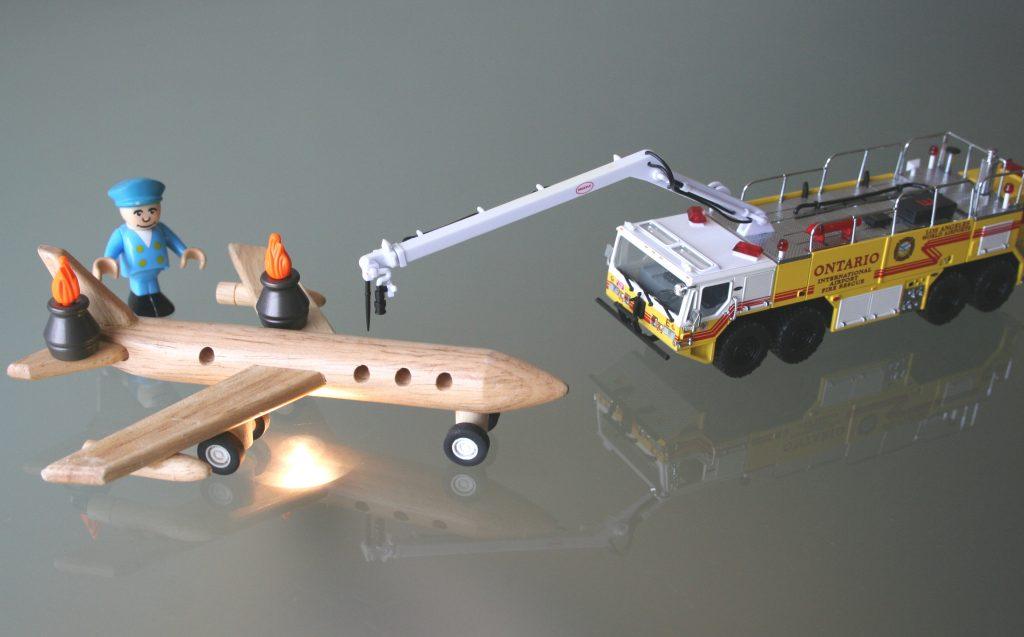 Speelgoed Vliegtuigcrash